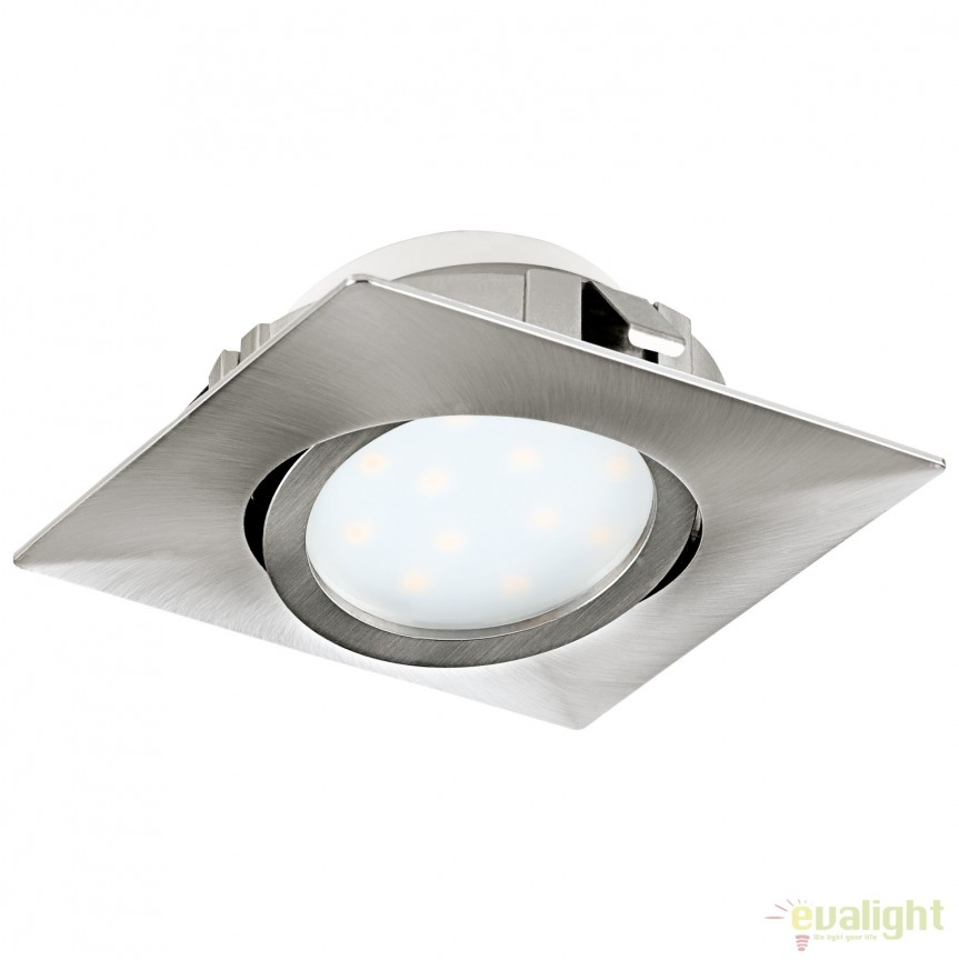 Spot LED incastrabil directionabil PINEDA nickel 95843 EL, Spoturi LED incastrate, aplicate, Corpuri de iluminat, lustre, aplice, veioze, lampadare, plafoniere. Mobilier si decoratiuni, oglinzi, scaune, fotolii. Oferte speciale iluminat interior si exterior. Livram in toata tara.  a
