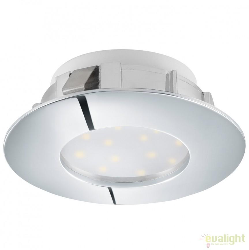 Spot LED dimabil incastrabil PINEDA crom 95812 EL, Spoturi LED incastrate, aplicate, Corpuri de iluminat, lustre, aplice, veioze, lampadare, plafoniere. Mobilier si decoratiuni, oglinzi, scaune, fotolii. Oferte speciale iluminat interior si exterior. Livram in toata tara.  a