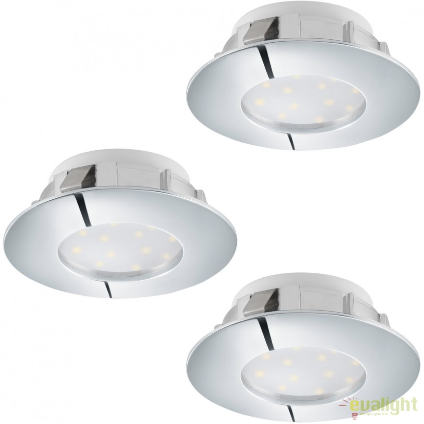 Set 3 Spoturi LED dimabile incastrabile PINEDA crom 95815 EL, Spoturi LED incastrate, aplicate, Corpuri de iluminat, lustre, aplice, veioze, lampadare, plafoniere. Mobilier si decoratiuni, oglinzi, scaune, fotolii. Oferte speciale iluminat interior si exterior. Livram in toata tara.  a
