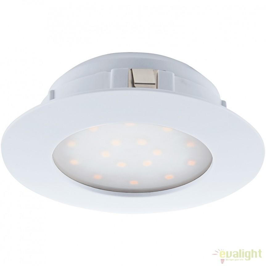 Spot LED dimabil incastrabil PINEDA alb 95874 EL, Spoturi LED incastrate, aplicate, Corpuri de iluminat, lustre, aplice, veioze, lampadare, plafoniere. Mobilier si decoratiuni, oglinzi, scaune, fotolii. Oferte speciale iluminat interior si exterior. Livram in toata tara.  a