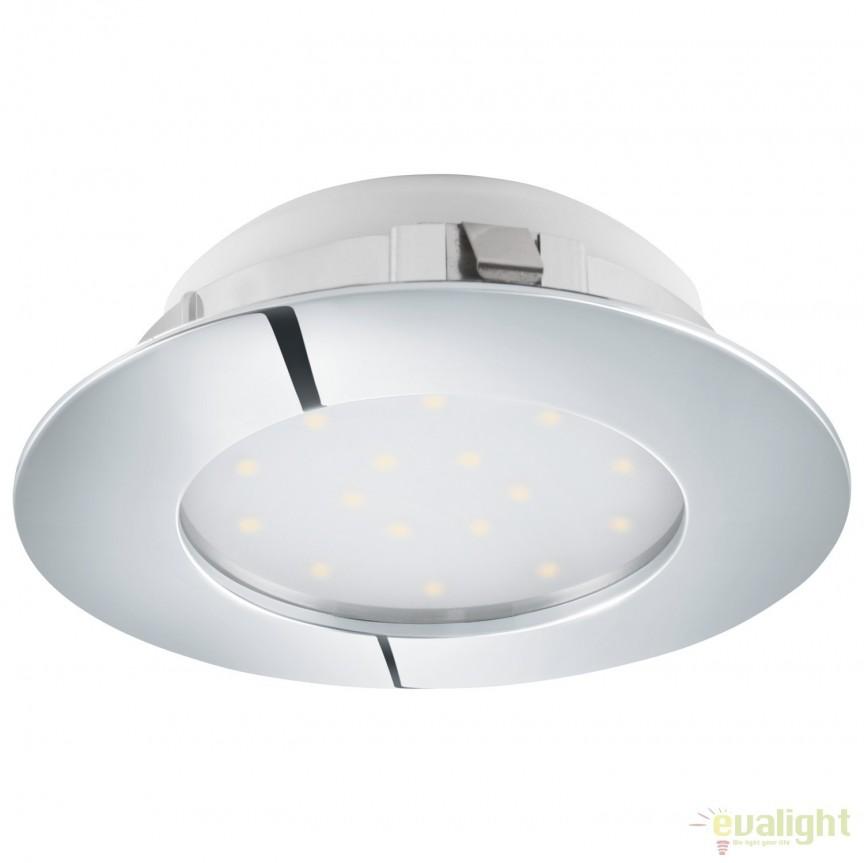 Spot LED dimabil incastrabil PINEDA crom 95875 EL, Spoturi LED incastrate, aplicate, Corpuri de iluminat, lustre, aplice, veioze, lampadare, plafoniere. Mobilier si decoratiuni, oglinzi, scaune, fotolii. Oferte speciale iluminat interior si exterior. Livram in toata tara.  a