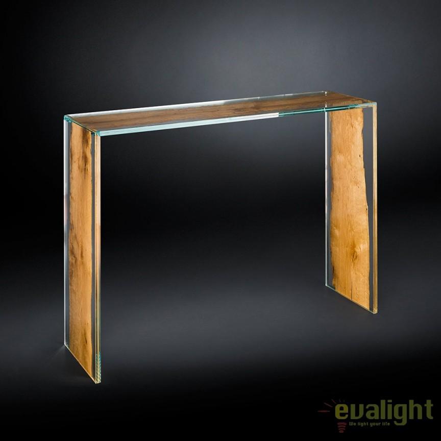 Consola eleganta, LUX design Glass&Wood VENEZIA 7511782.00, Console - Birouri, Corpuri de iluminat, lustre, aplice, veioze, lampadare, plafoniere. Mobilier si decoratiuni, oglinzi, scaune, fotolii. Oferte speciale iluminat interior si exterior. Livram in toata tara.  a