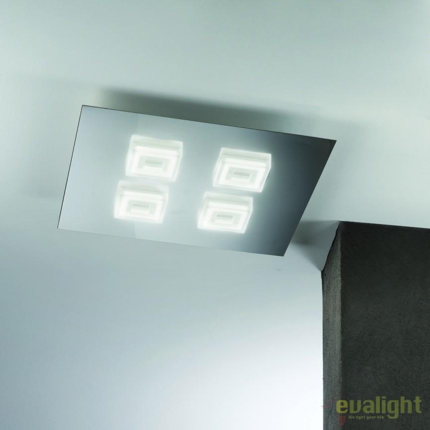 Plafoniera LED moderna Rakel Square DL 7-592/4 OR, Plafoniere LED, Spoturi LED, Corpuri de iluminat, lustre, aplice, veioze, lampadare, plafoniere. Mobilier si decoratiuni, oglinzi, scaune, fotolii. Oferte speciale iluminat interior si exterior. Livram in toata tara.  a