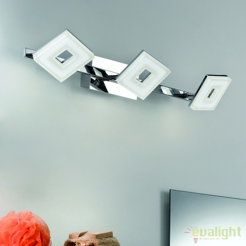Aplica perete LED moderna Rakel 3 Square WA 2-1283/3 OR, Aplice de perete LED, Corpuri de iluminat, lustre, aplice, veioze, lampadare, plafoniere. Mobilier si decoratiuni, oglinzi, scaune, fotolii. Oferte speciale iluminat interior si exterior. Livram in toata tara.  a