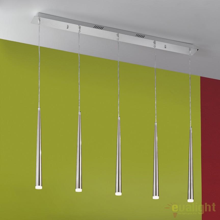 Lustra moderna cu 5 pendule LED Erika HL 6-1682/5 OR, Lustre LED, Pendule LED, Corpuri de iluminat, lustre, aplice, veioze, lampadare, plafoniere. Mobilier si decoratiuni, oglinzi, scaune, fotolii. Oferte speciale iluminat interior si exterior. Livram in toata tara.  a