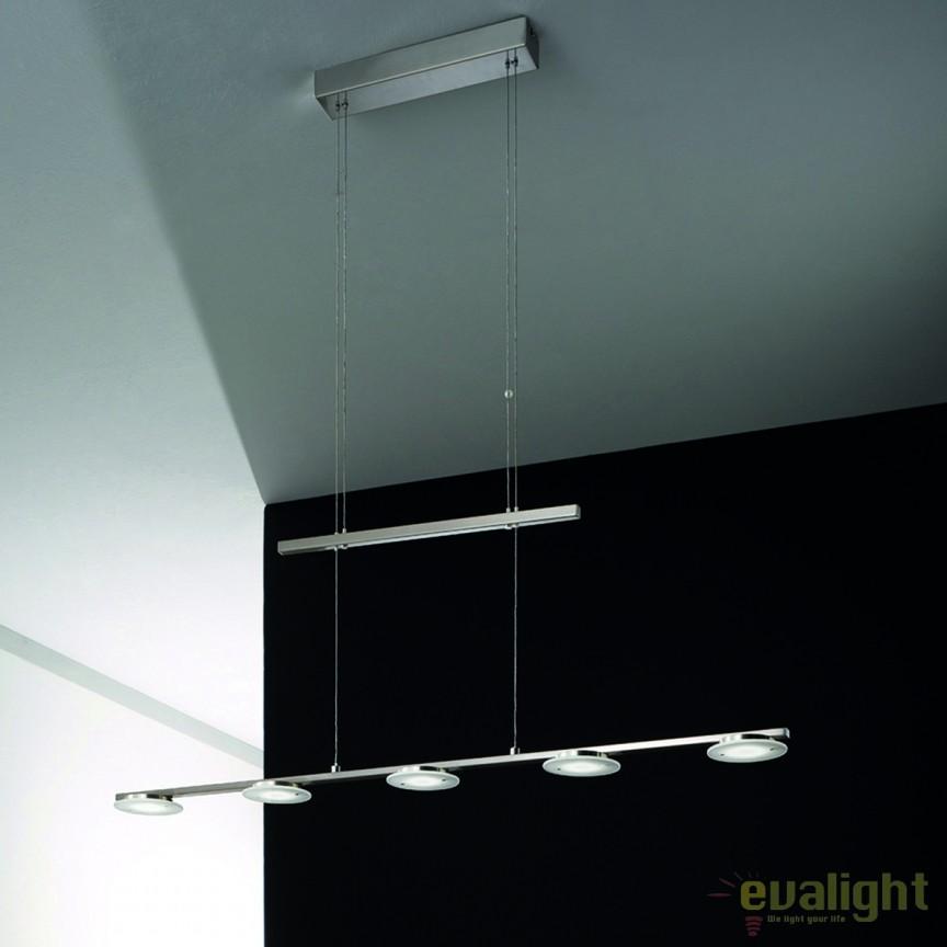 Lustra LED suspendata inaltime reglabila Lega HL 6-1564/5 OR, Lustre LED, Pendule LED, Corpuri de iluminat, lustre, aplice, veioze, lampadare, plafoniere. Mobilier si decoratiuni, oglinzi, scaune, fotolii. Oferte speciale iluminat interior si exterior. Livram in toata tara.  a