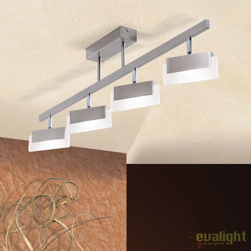 Lustra LED aplicata moderna BALKO DL 7-606/4 OR, Lustre LED, Pendule LED, Corpuri de iluminat, lustre, aplice, veioze, lampadare, plafoniere. Mobilier si decoratiuni, oglinzi, scaune, fotolii. Oferte speciale iluminat interior si exterior. Livram in toata tara.  a