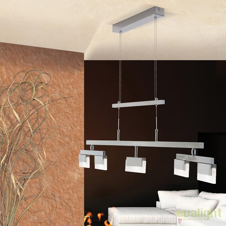 Lustra LED suspendata inaltime reglabila BALKO HL 6-1591/5 OR, Lustre LED, Pendule LED, Corpuri de iluminat, lustre, aplice, veioze, lampadare, plafoniere. Mobilier si decoratiuni, oglinzi, scaune, fotolii. Oferte speciale iluminat interior si exterior. Livram in toata tara.  a