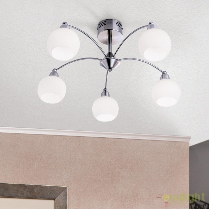 Lustra LED aplicata moderna Luna 5 DLU 1721/5 OR, Lustre LED, Pendule LED, Corpuri de iluminat, lustre, aplice, veioze, lampadare, plafoniere. Mobilier si decoratiuni, oglinzi, scaune, fotolii. Oferte speciale iluminat interior si exterior. Livram in toata tara.  a