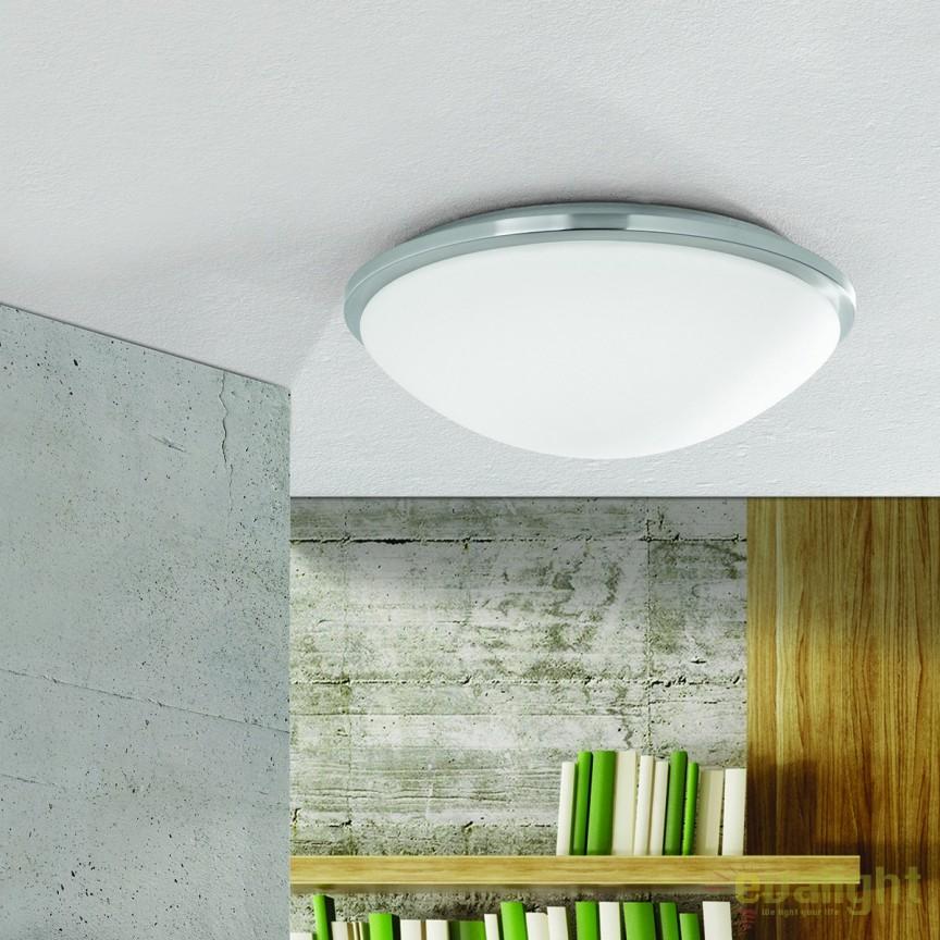 Plafoniera LED pentru baie IP44 Glanto 37cm NU 9-391/38 satin OR, Plafoniere cu protectie pentru baie, Corpuri de iluminat, lustre, aplice, veioze, lampadare, plafoniere. Mobilier si decoratiuni, oglinzi, scaune, fotolii. Oferte speciale iluminat interior si exterior. Livram in toata tara.  a
