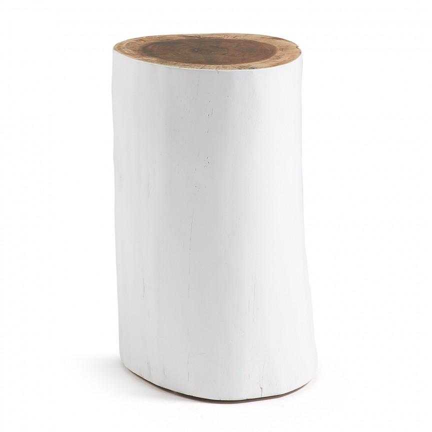 Taburete design rustic din lemn de suar HOMEY alb CC0188M05 JG, PROMOTII, Corpuri de iluminat, lustre, aplice, veioze, lampadare, plafoniere. Mobilier si decoratiuni, oglinzi, scaune, fotolii. Oferte speciale iluminat interior si exterior. Livram in toata tara.  a