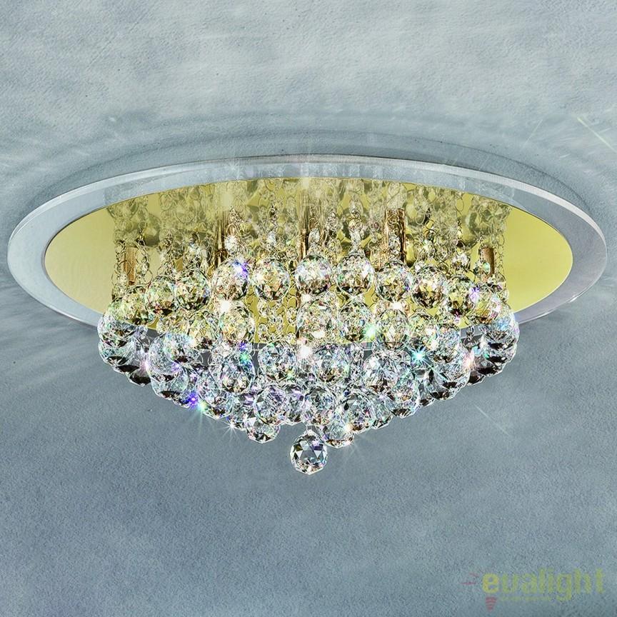 Plafoniera eleganta cristal K9 diam. 50cm Gloria  DLU 2378/6/50 gold OR, Plafoniere moderne, Corpuri de iluminat, lustre, aplice, veioze, lampadare, plafoniere. Mobilier si decoratiuni, oglinzi, scaune, fotolii. Oferte speciale iluminat interior si exterior. Livram in toata tara.  a