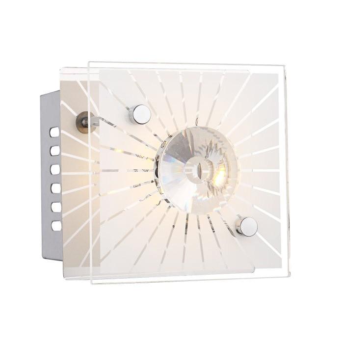 Aplica de perete cu cristale 11x11cm LED Santi 41691 GL, Aplice de perete LED, Corpuri de iluminat, lustre, aplice, veioze, lampadare, plafoniere. Mobilier si decoratiuni, oglinzi, scaune, fotolii. Oferte speciale iluminat interior si exterior. Livram in toata tara.  a