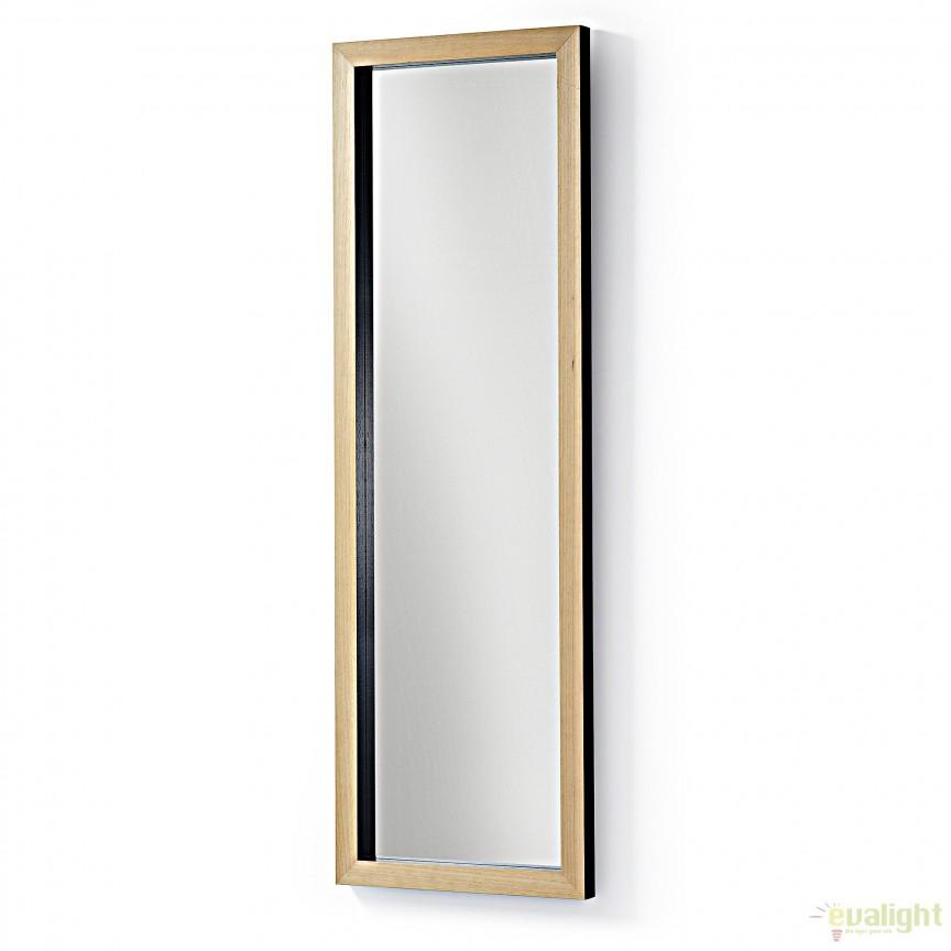Oglinda design scandinav DROP 48x148cm, negru AA0242M01 JG