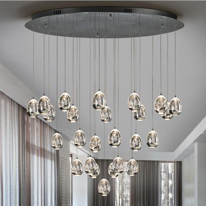 LUSTRA XL eleganta cu 25 PENDULE LED ROCIO, crom SV-785721, Lustre LED, Pendule LED, Corpuri de iluminat, lustre, aplice, veioze, lampadare, plafoniere. Mobilier si decoratiuni, oglinzi, scaune, fotolii. Oferte speciale iluminat interior si exterior. Livram in toata tara.  a