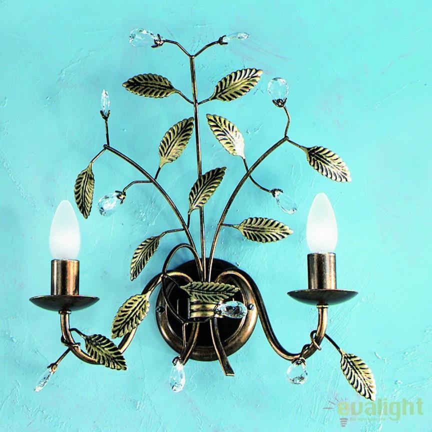 Aplica de perete design rustic Flora WA 2-1010/2 Antik OR, Aplice de perete, Corpuri de iluminat, lustre, aplice, veioze, lampadare, plafoniere. Mobilier si decoratiuni, oglinzi, scaune, fotolii. Oferte speciale iluminat interior si exterior. Livram in toata tara.  a