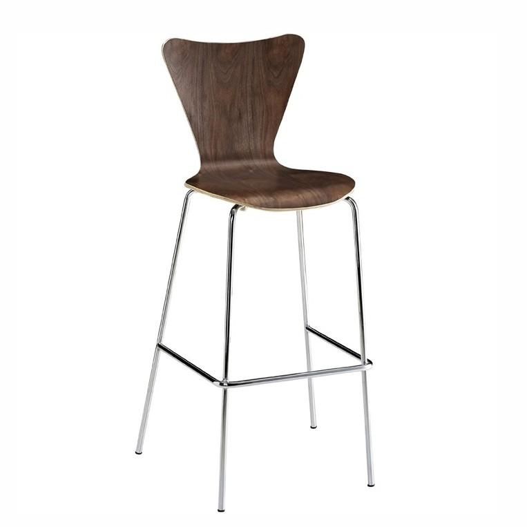 Set 4 scaune de bar, ideale pentru cofetarii si spatii fast food, JACOB nuc 427.TJANO SDM, Scaune de bar, Corpuri de iluminat, lustre, aplice, veioze, lampadare, plafoniere. Mobilier si decoratiuni, oglinzi, scaune, fotolii. Oferte speciale iluminat interior si exterior. Livram in toata tara.  a