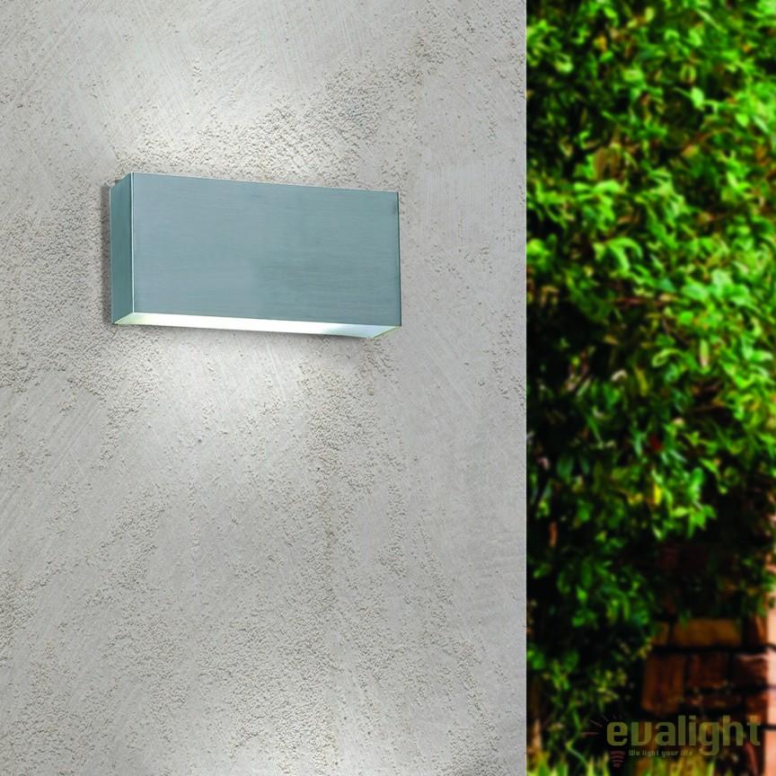Aplica de perete LED exterior IP44 Karas AL 11-1159 Edelstahl OR, Aplice de exterior moderne , Corpuri de iluminat, lustre, aplice, veioze, lampadare, plafoniere. Mobilier si decoratiuni, oglinzi, scaune, fotolii. Oferte speciale iluminat interior si exterior. Livram in toata tara.  a