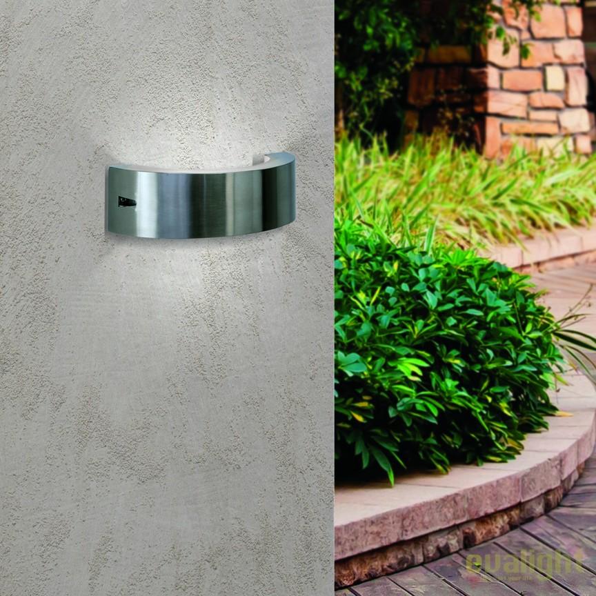 Aplica de perete LED exterior IP44 Karas round AL 11-1158 Edelstahl OR, Aplice de exterior moderne , Corpuri de iluminat, lustre, aplice, veioze, lampadare, plafoniere. Mobilier si decoratiuni, oglinzi, scaune, fotolii. Oferte speciale iluminat interior si exterior. Livram in toata tara.  a