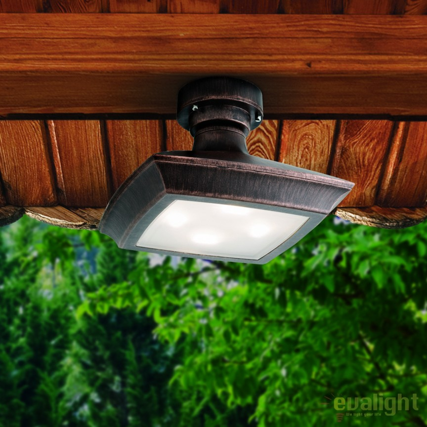 Plafoniera LED iluminat exterior IP65 DAIKO AL 11K/178 schwarz-kupfer OR, Plafoniere de exterior, Corpuri de iluminat, lustre, aplice, veioze, lampadare, plafoniere. Mobilier si decoratiuni, oglinzi, scaune, fotolii. Oferte speciale iluminat interior si exterior. Livram in toata tara.  a