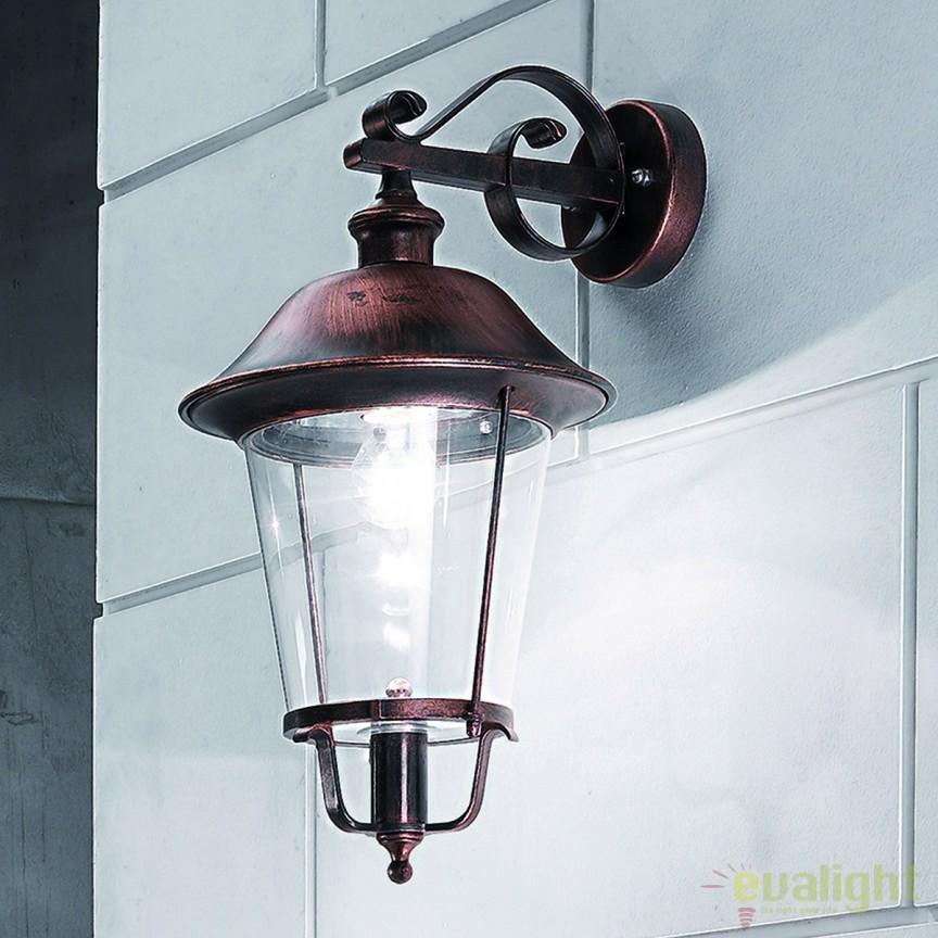 Aplica de perete exterior stil clasic IP44 Kenzo AL 11K/360.01 schw.-kupfer/abw OR, Aplice de exterior clasice, rustice, traditionale, Corpuri de iluminat, lustre, aplice, veioze, lampadare, plafoniere. Mobilier si decoratiuni, oglinzi, scaune, fotolii. Oferte speciale iluminat interior si exterior. Livram in toata tara.  a