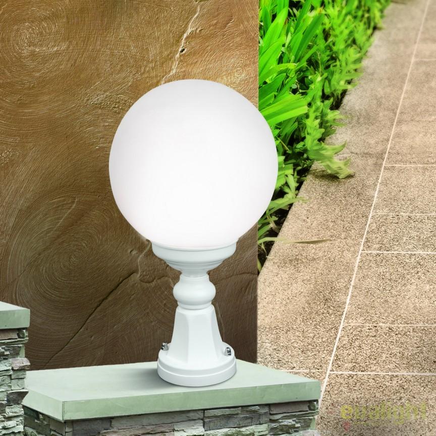 Stalp exterior stil clasic IP43 H44cm Reika alb AL 11-1172/1 weiß OR, Stalpi de iluminat exterior mici si medii , Corpuri de iluminat, lustre, aplice, veioze, lampadare, plafoniere. Mobilier si decoratiuni, oglinzi, scaune, fotolii. Oferte speciale iluminat interior si exterior. Livram in toata tara.  a