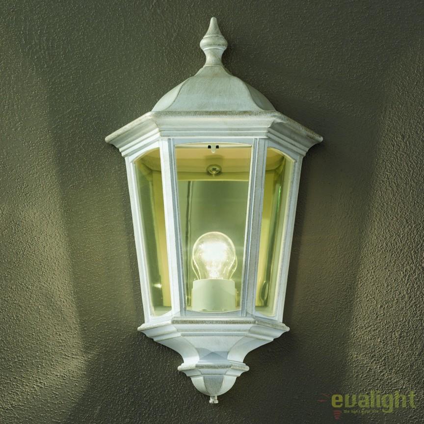 Aplica de perete exterior stil clasic IP43 Puchberg AL 11K/82505 weiß-gold/rauch OR, ILUMINAT EXTERIOR, Corpuri de iluminat, lustre, aplice, veioze, lampadare, plafoniere. Mobilier si decoratiuni, oglinzi, scaune, fotolii. Oferte speciale iluminat interior si exterior. Livram in toata tara.  a
