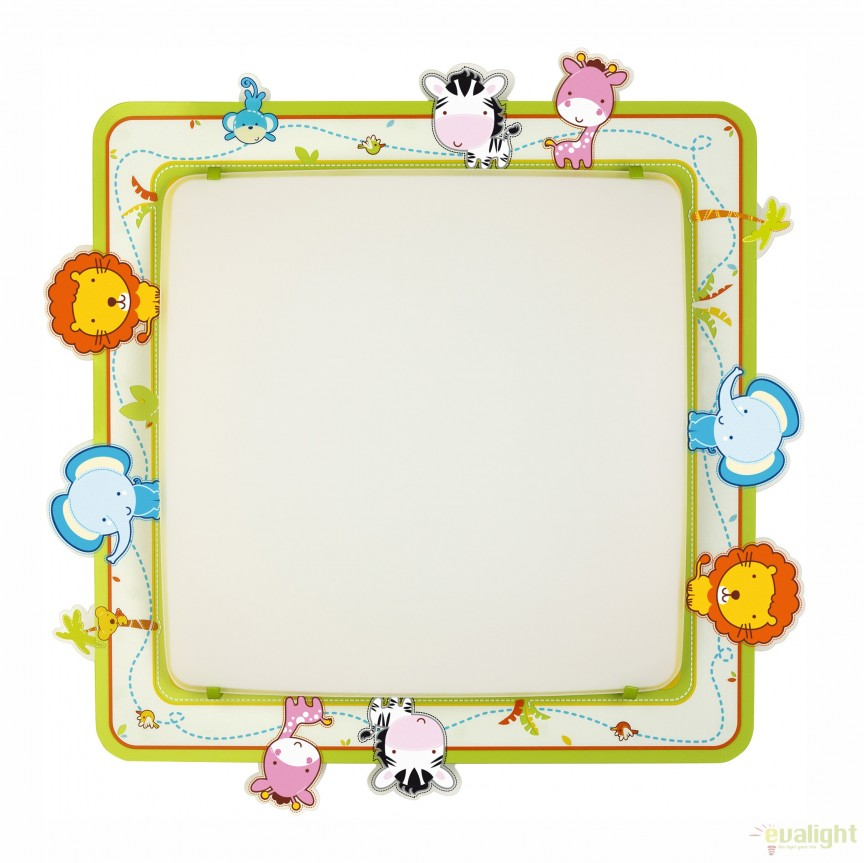 Aplica perete sau tavan camera copii cu imagini imprimate, Little Zoo 63116 DB, PROMOTII,  a