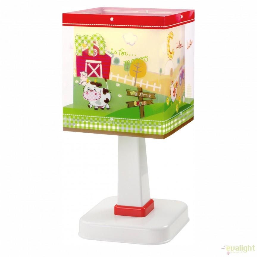Veioza camera copii cu imagini imprimate, My Little Farm 64401 DB, Outlet, Corpuri de iluminat, lustre, aplice, veioze, lampadare, plafoniere. Mobilier si decoratiuni, oglinzi, scaune, fotolii. Oferte speciale iluminat interior si exterior. Livram in toata tara.  a