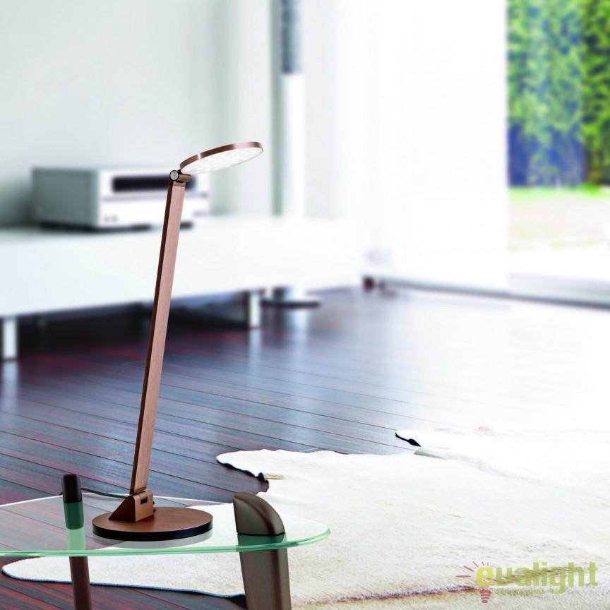 Veioza LED / Lampa de birou moderna reglabila Work LA 4-1171/1 Alu-Bronze OR, Veioze LED, Lampadare LED, Corpuri de iluminat, lustre, aplice, veioze, lampadare, plafoniere. Mobilier si decoratiuni, oglinzi, scaune, fotolii. Oferte speciale iluminat interior si exterior. Livram in toata tara.  a