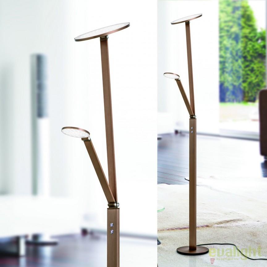 Lampadar LED / Lampa de podea moderna reglabila Work Stl 12-1157/2 Alu-Bronze OR, Veioze LED, Lampadare LED, Corpuri de iluminat, lustre, aplice, veioze, lampadare, plafoniere. Mobilier si decoratiuni, oglinzi, scaune, fotolii. Oferte speciale iluminat interior si exterior. Livram in toata tara.  a