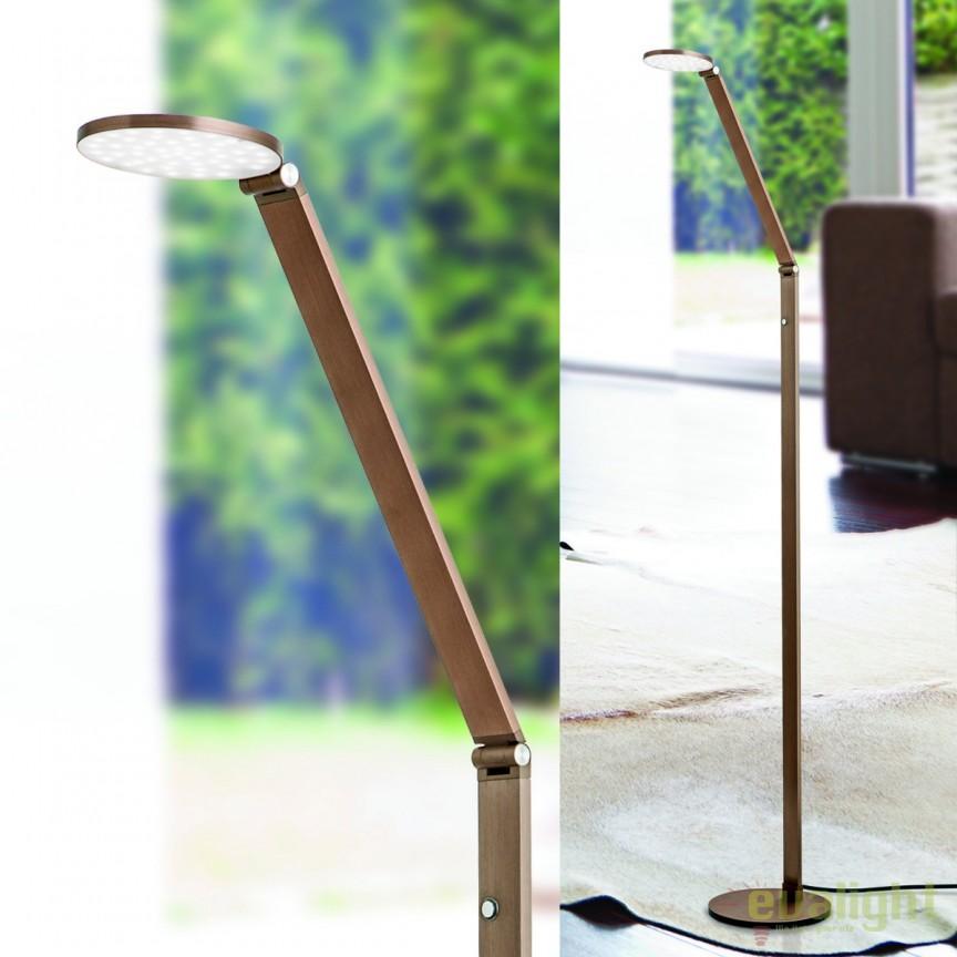 Lampadar LED / Lampa de podea moderna reglabila Work Stl 12-1156/1 Alu-Bronze OR, Veioze LED, Lampadare LED, Corpuri de iluminat, lustre, aplice, veioze, lampadare, plafoniere. Mobilier si decoratiuni, oglinzi, scaune, fotolii. Oferte speciale iluminat interior si exterior. Livram in toata tara.  a