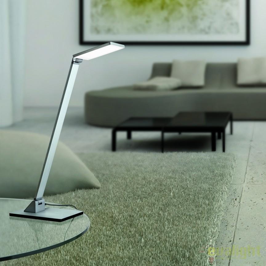 Veioza LED / Lampa de birou moderna reglabila Work LA 4-1172/1 Alu-matt OR, Veioze LED, Lampadare LED, Corpuri de iluminat, lustre, aplice, veioze, lampadare, plafoniere. Mobilier si decoratiuni, oglinzi, scaune, fotolii. Oferte speciale iluminat interior si exterior. Livram in toata tara.  a