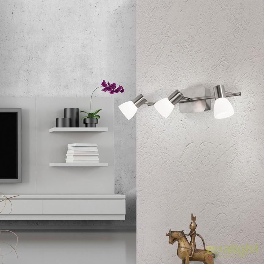 Plafoniera LED cu 3 spoturi directionabile Laura Str 10-455/3 satin OR, Plafoniere LED, Spoturi LED, Corpuri de iluminat, lustre, aplice, veioze, lampadare, plafoniere. Mobilier si decoratiuni, oglinzi, scaune, fotolii. Oferte speciale iluminat interior si exterior. Livram in toata tara.  a