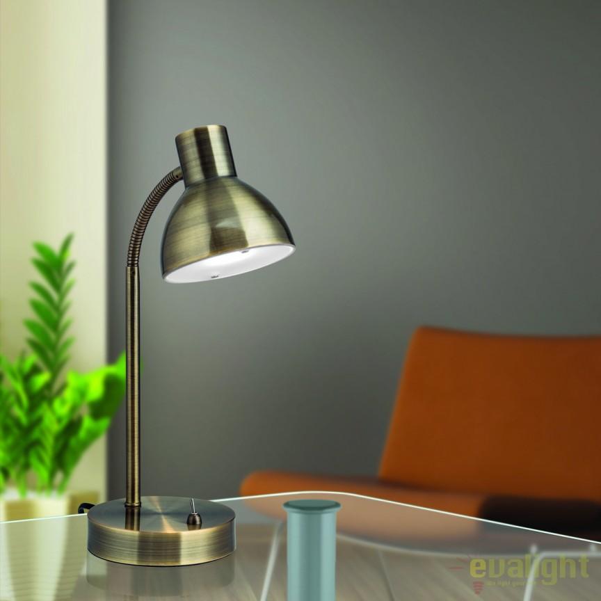 Lampa LED de birou moderna Nemo LA 4-1170/1 Patina OR, Veioze LED, Lampadare LED, Corpuri de iluminat, lustre, aplice, veioze, lampadare, plafoniere. Mobilier si decoratiuni, oglinzi, scaune, fotolii. Oferte speciale iluminat interior si exterior. Livram in toata tara.  a