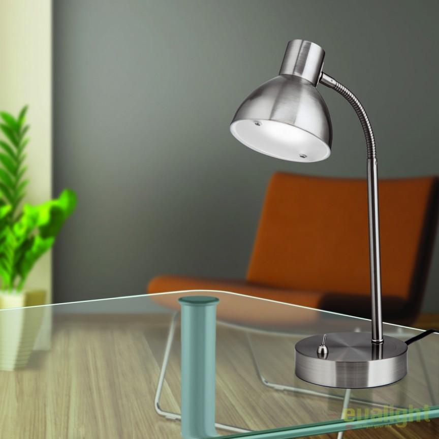 Lampa LED de birou moderna Nemo LA 4-1170/1 satin OR, Veioze LED, Lampadare LED, Corpuri de iluminat, lustre, aplice, veioze, lampadare, plafoniere. Mobilier si decoratiuni, oglinzi, scaune, fotolii. Oferte speciale iluminat interior si exterior. Livram in toata tara.  a