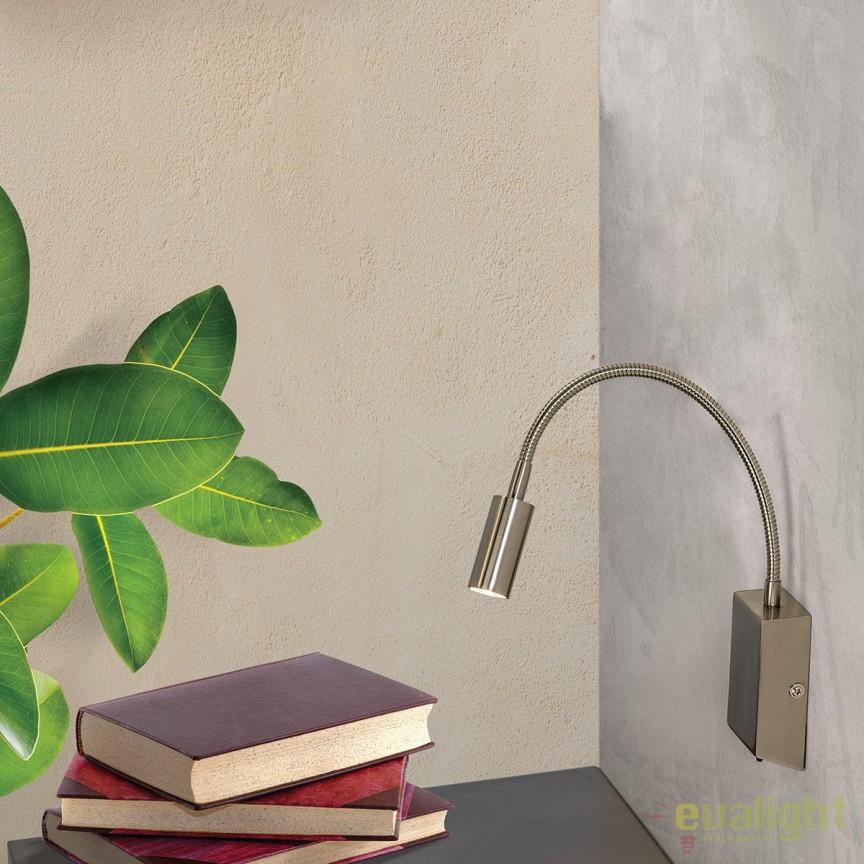 Aplica de perete LED moderna cu brat flexibil Flexo WA 2-1297 satin OR, Aplice de perete LED, Corpuri de iluminat, lustre, aplice, veioze, lampadare, plafoniere. Mobilier si decoratiuni, oglinzi, scaune, fotolii. Oferte speciale iluminat interior si exterior. Livram in toata tara.  a