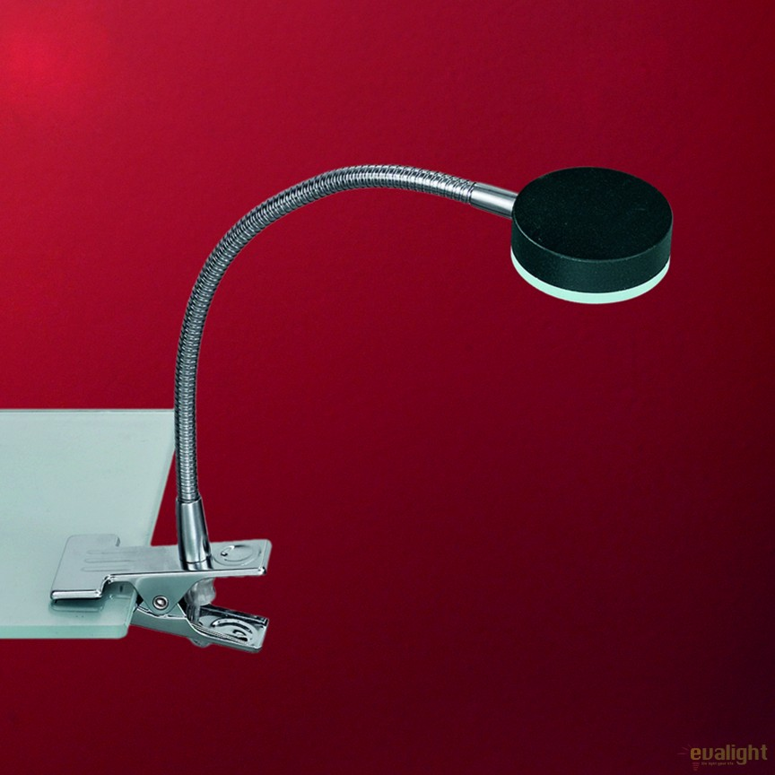 Lampa LED cu clips design modern Mira LA 4-1134/1 chrom/schwarz OR, Veioze LED, Lampadare LED, Corpuri de iluminat, lustre, aplice, veioze, lampadare, plafoniere. Mobilier si decoratiuni, oglinzi, scaune, fotolii. Oferte speciale iluminat interior si exterior. Livram in toata tara.  a