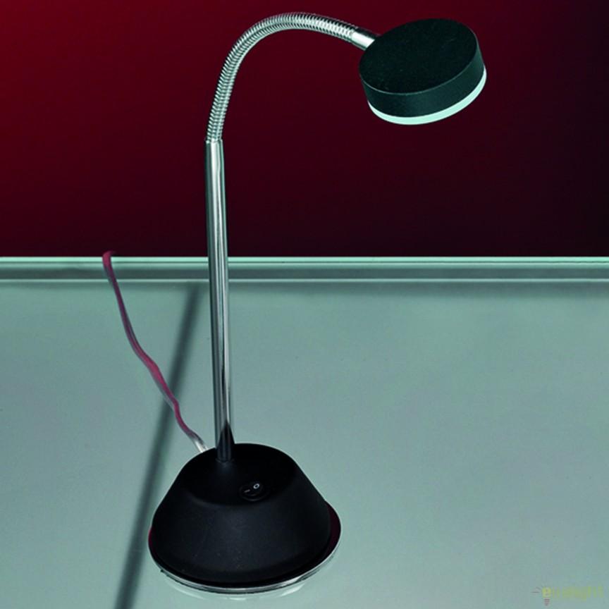 Veioza LED / Lampa birou design modern Mira LA 4-1133/1 chrom/schwarz OR, Veioze LED, Lampadare LED, Corpuri de iluminat, lustre, aplice, veioze, lampadare, plafoniere. Mobilier si decoratiuni, oglinzi, scaune, fotolii. Oferte speciale iluminat interior si exterior. Livram in toata tara.  a