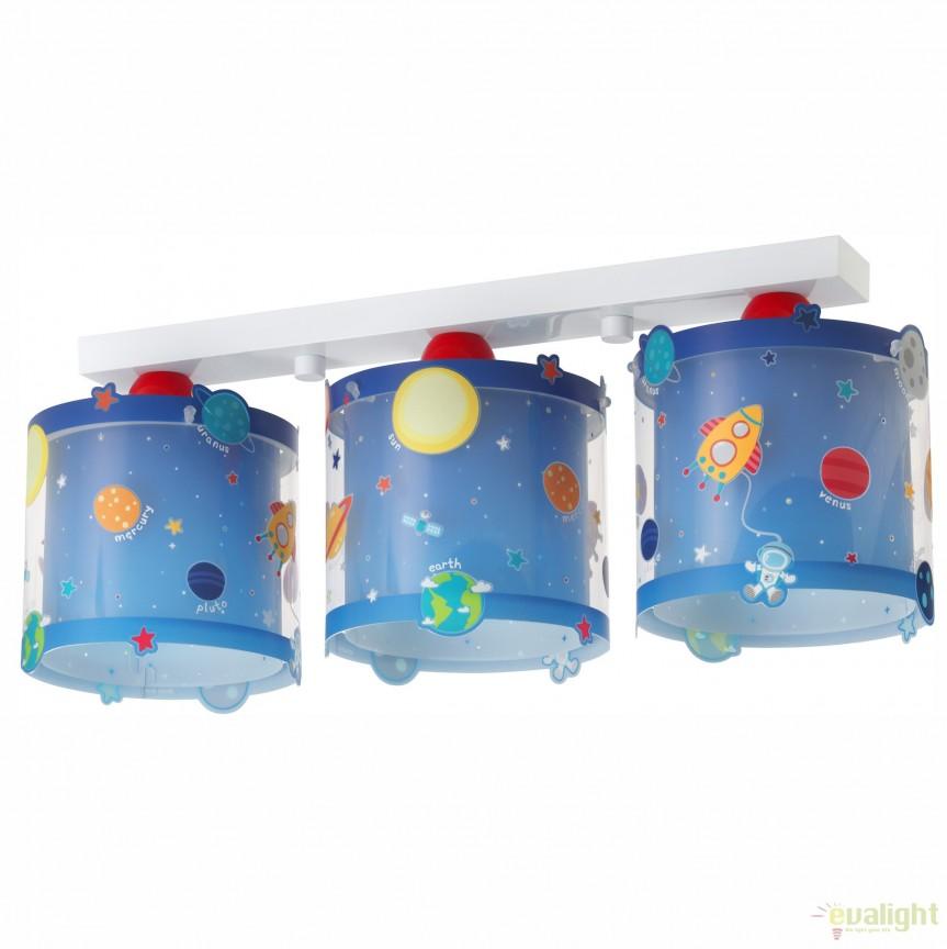 Lustra aplicata camera copii cu detalii ce stralucesc in intuneric, Planets 41343 DB, PROMOTII, Corpuri de iluminat, lustre, aplice, veioze, lampadare, plafoniere. Mobilier si decoratiuni, oglinzi, scaune, fotolii. Oferte speciale iluminat interior si exterior. Livram in toata tara.  a