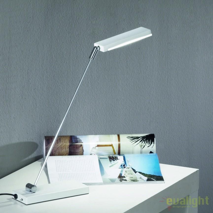 Veioza LED / Lampa birou design modern Sela LA 4-1139/1 chrom/weiß OR, Veioze LED, Lampadare LED, Corpuri de iluminat, lustre, aplice, veioze, lampadare, plafoniere. Mobilier si decoratiuni, oglinzi, scaune, fotolii. Oferte speciale iluminat interior si exterior. Livram in toata tara.  a