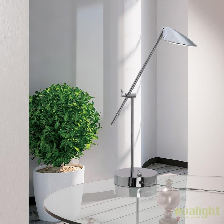 Veioza LED / Lampa de masa design modern Lugo LA 4-1161 chrom OR, Veioze LED, Lampadare LED, Corpuri de iluminat, lustre, aplice, veioze, lampadare, plafoniere. Mobilier si decoratiuni, oglinzi, scaune, fotolii. Oferte speciale iluminat interior si exterior. Livram in toata tara.  a