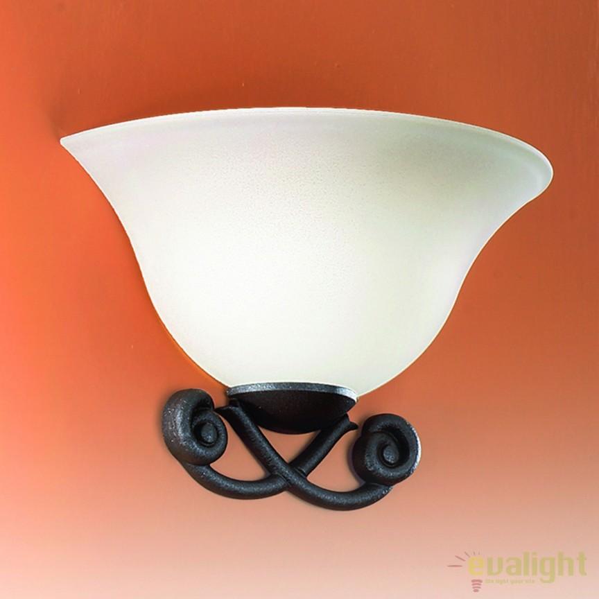 Aplica de perete design rustic Abele WA 2-1001/1 Antik OR, ILUMINAT INTERIOR RUSTIC, Corpuri de iluminat, lustre, aplice, veioze, lampadare, plafoniere. Mobilier si decoratiuni, oglinzi, scaune, fotolii. Oferte speciale iluminat interior si exterior. Livram in toata tara.  a