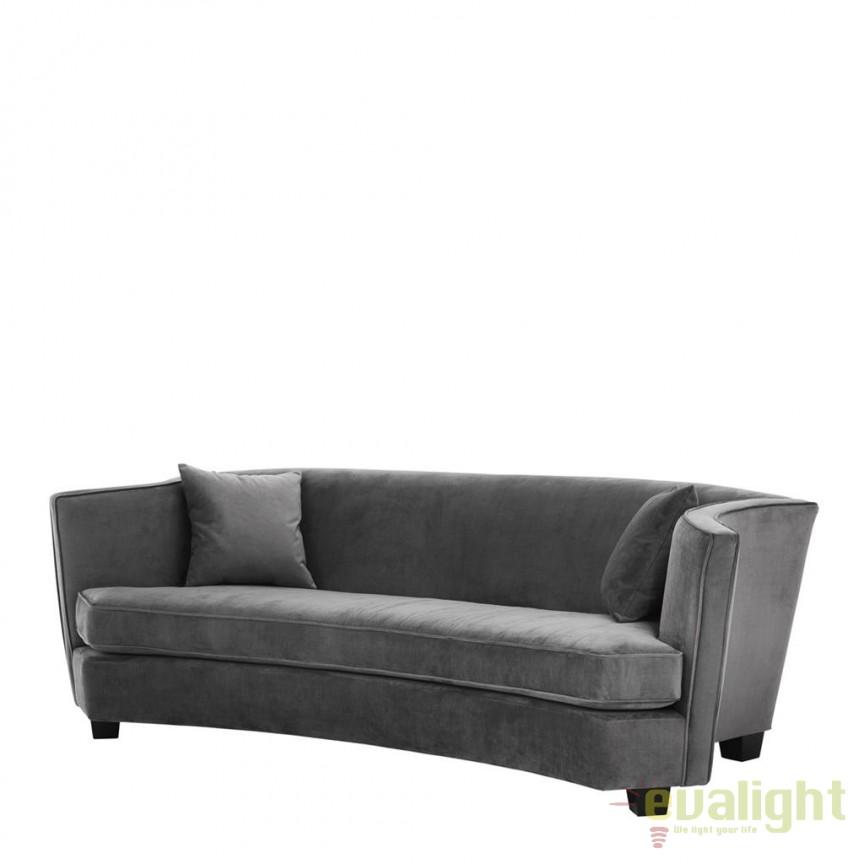 Canapea design lux Giulietta gri granit 111392 HZ, Canapele - Coltare, Corpuri de iluminat, lustre, aplice, veioze, lampadare, plafoniere. Mobilier si decoratiuni, oglinzi, scaune, fotolii. Oferte speciale iluminat interior si exterior. Livram in toata tara.  a