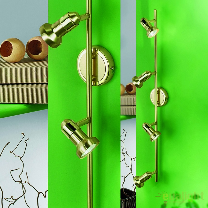 Aplica / Plafoniera cu 4 spoturi directionabile Seba Str 10-390/4 MS-matt OR, Spoturi - iluminat - cu 4 spoturi, Corpuri de iluminat, lustre, aplice, veioze, lampadare, plafoniere. Mobilier si decoratiuni, oglinzi, scaune, fotolii. Oferte speciale iluminat interior si exterior. Livram in toata tara.  a