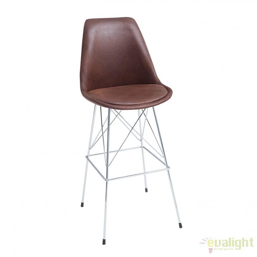 Set 4 scaune de bar Scandinavia cafeniu antic A-37555 VC, Scaune de bar, Corpuri de iluminat, lustre, aplice, veioze, lampadare, plafoniere. Mobilier si decoratiuni, oglinzi, scaune, fotolii. Oferte speciale iluminat interior si exterior. Livram in toata tara.  a