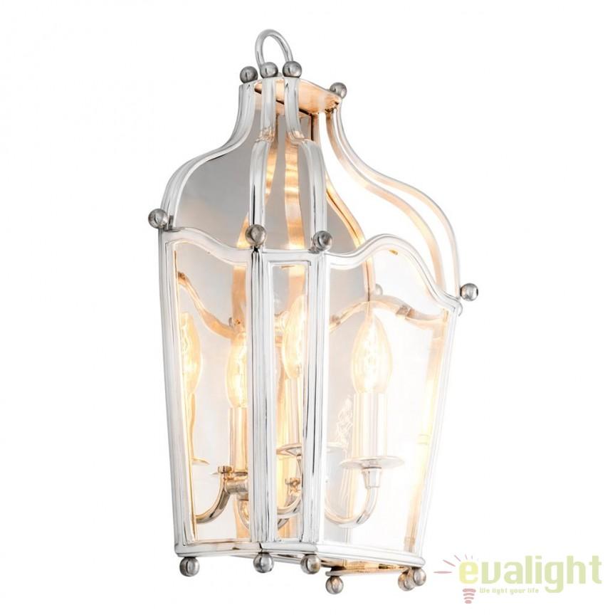 Aplica design LUX Élysée argintiu 110240 HZ, Aplice de perete moderne, Corpuri de iluminat, lustre, aplice, veioze, lampadare, plafoniere. Mobilier si decoratiuni, oglinzi, scaune, fotolii. Oferte speciale iluminat interior si exterior. Livram in toata tara.  a