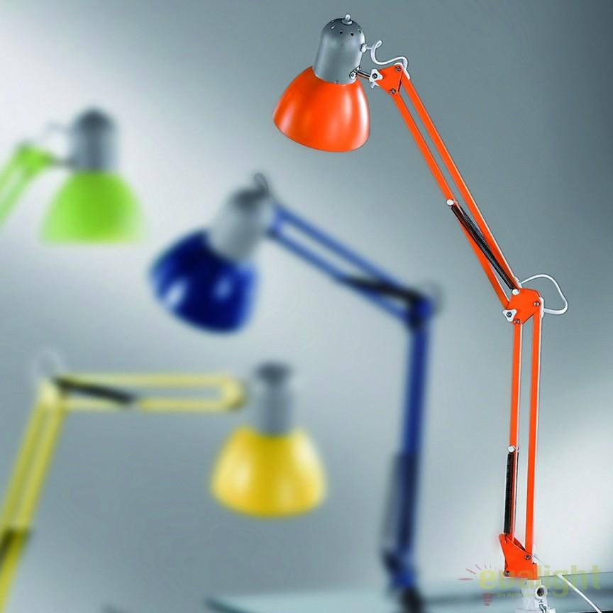 Veioza birou / Lampa cu clip Nemo Job LA 4-1060 orange OR, Veioze de Birou moderne, Corpuri de iluminat, lustre, aplice, veioze, lampadare, plafoniere. Mobilier si decoratiuni, oglinzi, scaune, fotolii. Oferte speciale iluminat interior si exterior. Livram in toata tara.  a