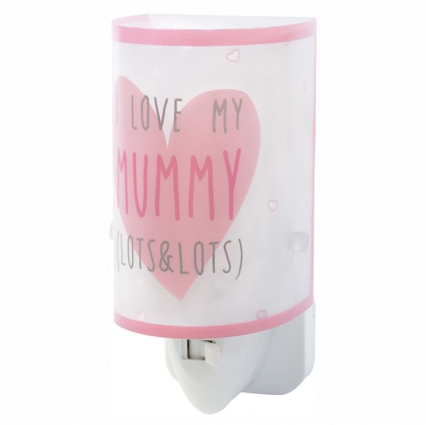 Lampa de veghe camera copii Mummy & Daddy roz 92821 DB, Lustre - Iluminat pentru camera Copii, Corpuri de iluminat, lustre, aplice, veioze, lampadare, plafoniere. Mobilier si decoratiuni, oglinzi, scaune, fotolii. Oferte speciale iluminat interior si exterior. Livram in toata tara.  a