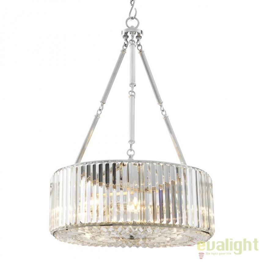 Candelabru design LUX Infinity nickel 110999 HZ, Candelabre, Lustre moderne, Corpuri de iluminat, lustre, aplice, veioze, lampadare, plafoniere. Mobilier si decoratiuni, oglinzi, scaune, fotolii. Oferte speciale iluminat interior si exterior. Livram in toata tara.  a